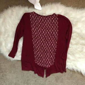 Lucky Brand Tops - Lucky Brand Rusted Red Boho Blouse